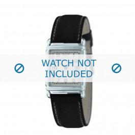 Armani horlogeband AR-0224 Leder Zwart 18mm