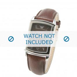 Armani horlogeband AR0237 Leder Bruin 21mm