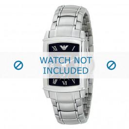 Armani horlogeband AR-0245 Staal Zilver 21mm