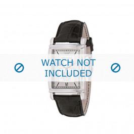 Horlogeband Armani AR0284 Leder Zwart 22mm