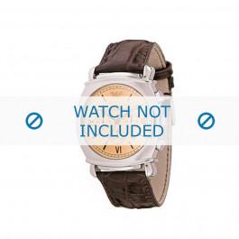 Horlogeband Armani AR0286 Leder Bruin 24mm