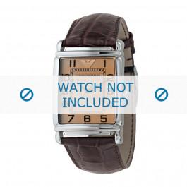 Armani horlogeband AR-0314 Croco leder Bruin 26mm