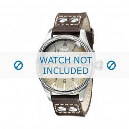 Horlogeband Armani AR0513 Leder Antracietgrijs 23mm