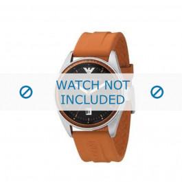 Armani horlogeband AR-0561 Rubber Oranje 23mm