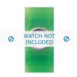 Armani horlogeband AR-1006 Rubber Groen 24mm