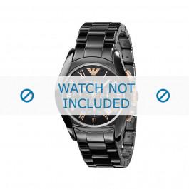 Horlogeband Armani AR1410 Keramiek Zwart 22mm