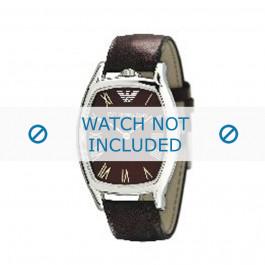 Armani horlogeband AR-2404 Leder Donkerbruin 20mm