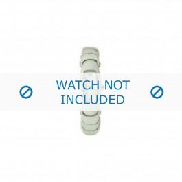 Armani horlogeband AR-5614 Leder Cream wit 8mm