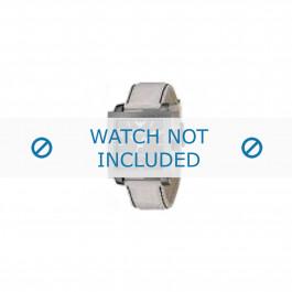 Armani horlogeband AR-5811 Leder Wit 24mm