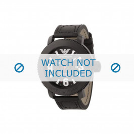 Armani horlogeband AR-5832 Leder Zwart