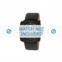 Armani horlogeband AR-5900 Leder Zwart