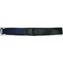 Horlogeband Condor KLITTENBAND 412R Navy Onderliggend Klittenband Blauw 20mm
