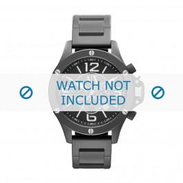 Horlogeband Armani AX1503 Staal Zwart 22mm