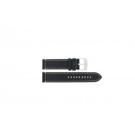 Horlogeband Camel Active / BC51076 Leder Zwart 22mm