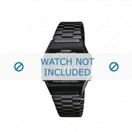 Casio horlogeband B640WB-1BEF / B640WB-1B  Staal Zwart 18mm