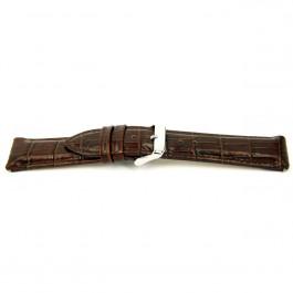 Horlogeband Universeel I035-XL Leder Bruin 24mm