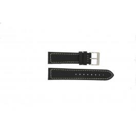 Horlogeband Davis BB1020 Leder Zwart 22mm