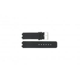 Horlogeband Danish Design IQ13Q523 / IQ12Q523 Leder Zwart 16mm