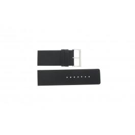 Horlogeband Davis BB0330 Leder Zwart 30mm