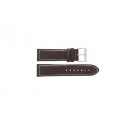 Horlogeband Davis BB0453 Leder Bruin 24mm