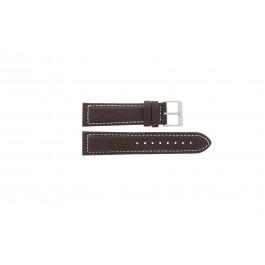 Horlogeband Davis BB1021 / BB1023 Leder Bruin 22mm