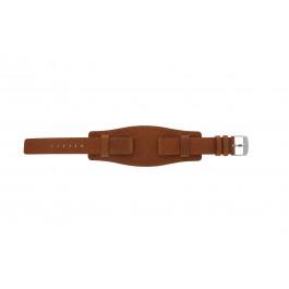 Horlogeband Universeel B0222 Onderliggend Leder Bruin 20mm