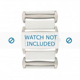 Horlogeband Davis BB0755 Leder Wit 36mm