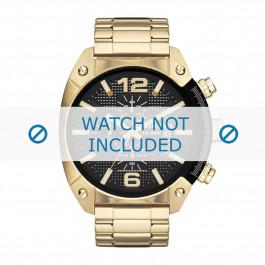 Diesel horlogeband DZ4342 Staal Goud 24mm