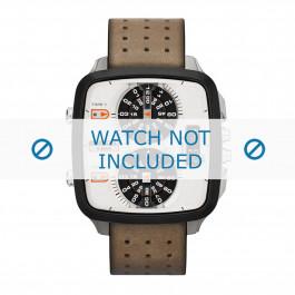 Diesel horlogeband DZ7303 Leder Cream wit / Beige / Ivoor 24mm