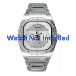 Diesel horlogeband DZ4116 Staal Wit 19mm