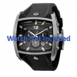 Horlogeband Diesel DZ4165 Silicoon Zwart 33mm