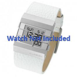 Horlogeband Diesel DZ7087 Leder Wit 36mm