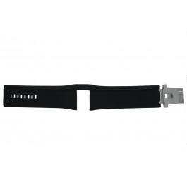Horlogeband Diesel DZ7033 Onderliggend Leder Zwart 28mm