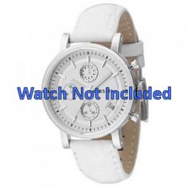 Horlogeband Fossil ES2202 Leder Wit 18mm