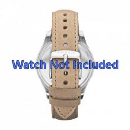Horlogeband Fossil ES2997 Leder Beige 18mm