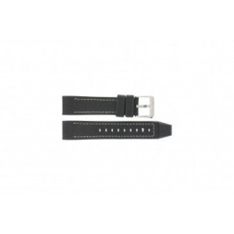 Festina horlogeband F16183/40 Leder Zwart 22mm + wit stiksel