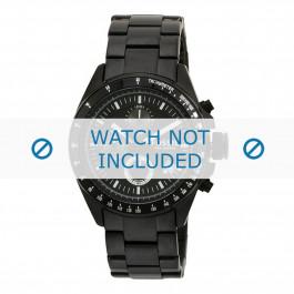 Horlogeband Fossil CH2601 Staal Zwart 22mm