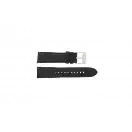 Horlogeband Fossil FS4745 Leder Zwart 22mm