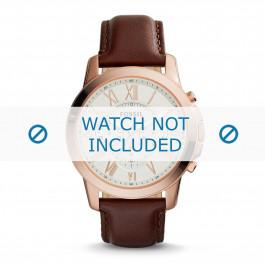 Horlogeband Fossil FS4991 Leder Bruin 22mm