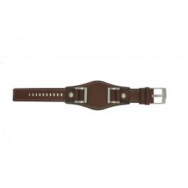 Horlogeband Fossil JR1157 Leder Bruin 24mm