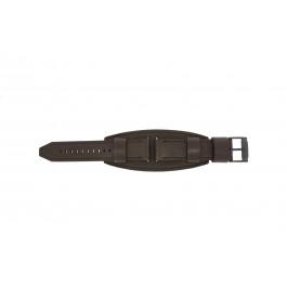 Horlogeband Fossil JR1365 Onderliggend Leder Bruin 25mm