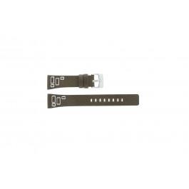 Fossil horlogeband JR-9519 Leder Bruin 20mm