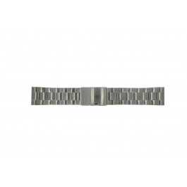Horlogeband Fossil FS4662 / 12XXXX / 25XXXX Staal Antracietgrijs 24mm