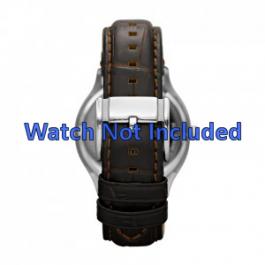 Horlogeband Fossil FS4737 Leder Bruin 22mm