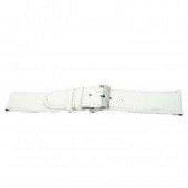 Horlogeband Universeel I505 Leder Wit 24mm