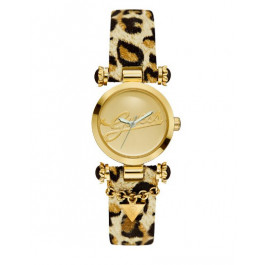 Horlogeband Guess W10619L1 Leder Bruin