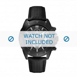 Guess horlogeband W18549G1 Carbon Zwart 22mm + zwart stiksel