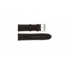 Guess horlogeband W95046G1 Leder Bruin 24mm