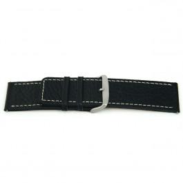 Horlogeband Universeel L125 Leder Zwart 30mm