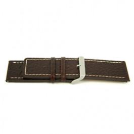Horlogeband Universeel L320 Leder Bruin 30mm